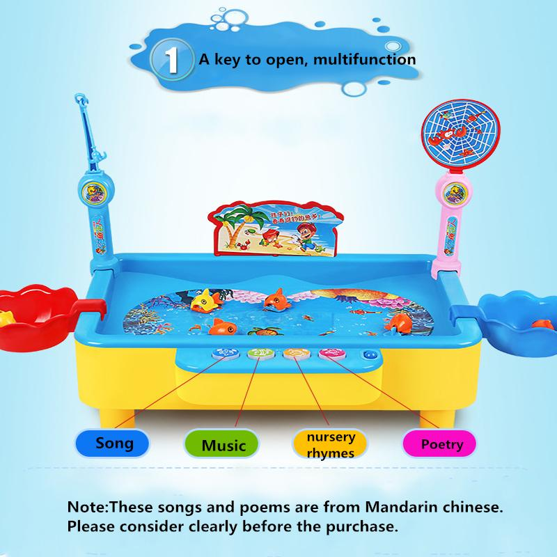 Educational Angling Colorful Toy Magnetic Fishing Board Game for Young Children Kids