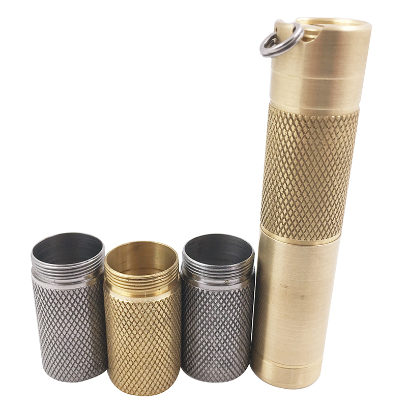 DQG Slim Flashlight Accessories of Titanium Alloy/Staineless Steel/Brass Extension Body Tube
