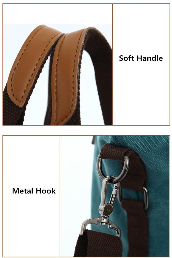 Women Retro Canvas Tote Handbags Casual Shoulder Bags Capacity Shopping Crossbody Bags