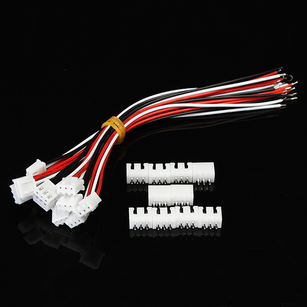 10pcs XH Pitch 2.54mm Single Head 3Pin Wire To Board Connector 15cm 24AWG With Socket