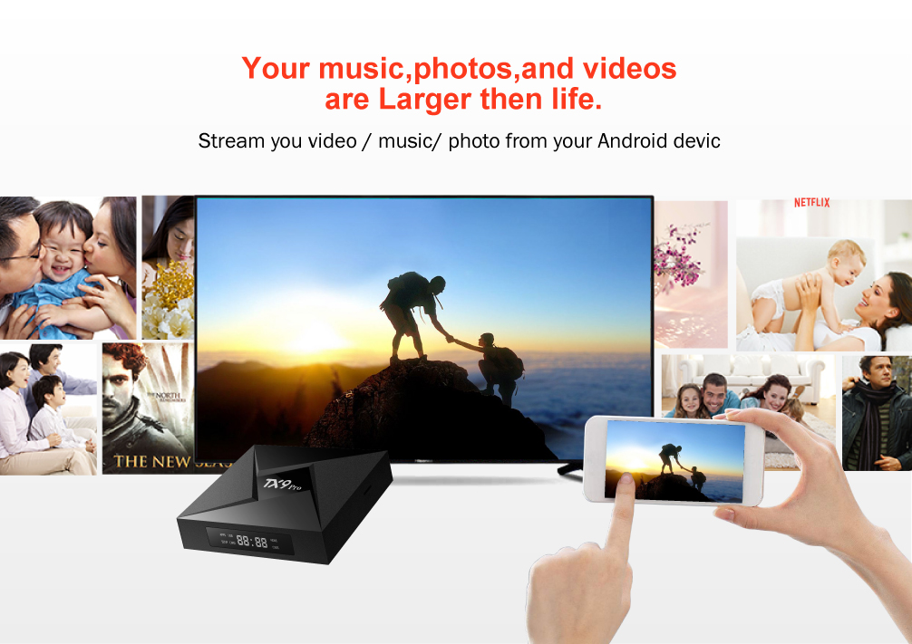 Tanix TX9 Pro Amlogic S912 3GB RAM 32GB ROM 5.0G WIFI 1000M LAN bluetooth 4.1 TV Box