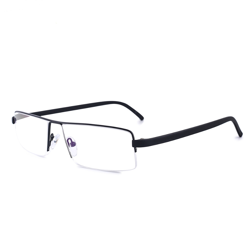SHUAIDI Anti-fatigue Semi Rimless Frame Reading Glasses Resin Alloy Presbyopic Half Glass 0609