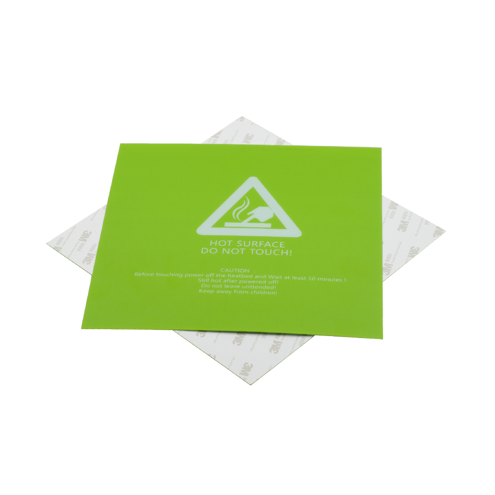 220*220*0.5mm Green Frosted Heated Bed Sticker Build Plate Tape With 3M Backing For 3D Printer