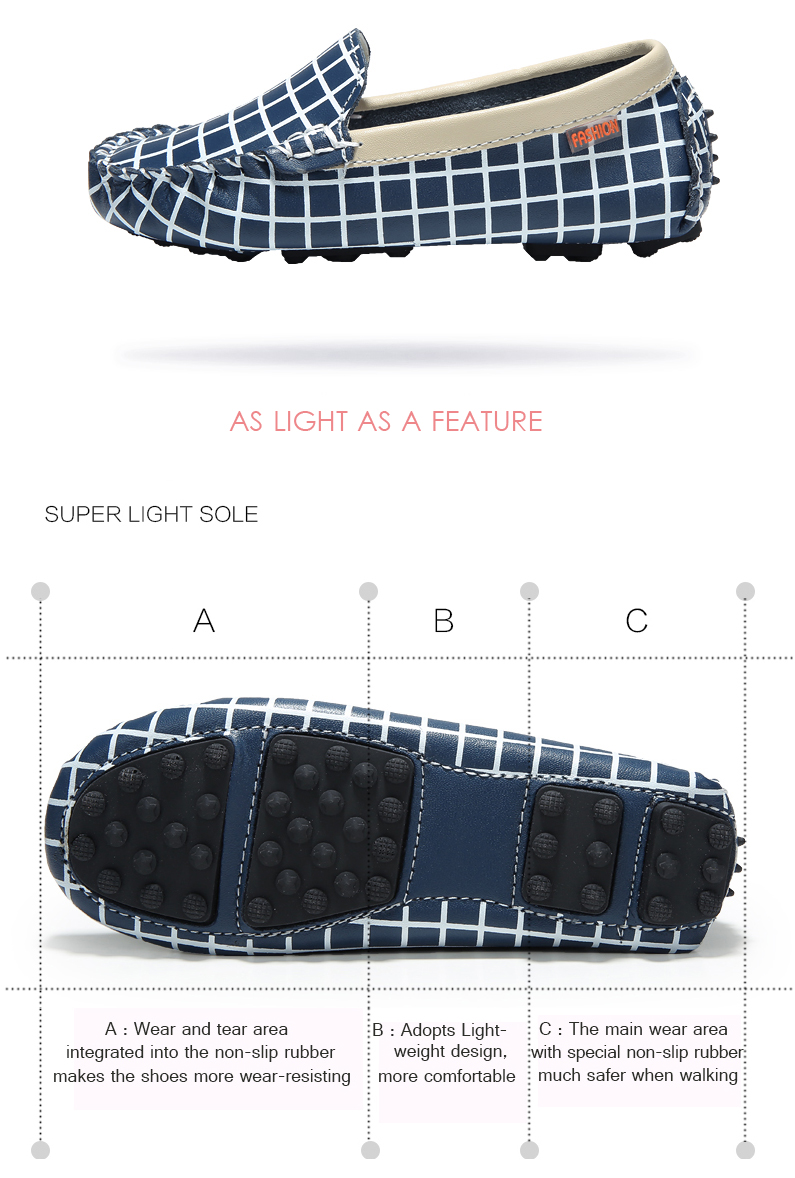 Children Casual Flats Shoes Girls Boys Leather Sneakers Kids Boat Footwear Slip on Loafers