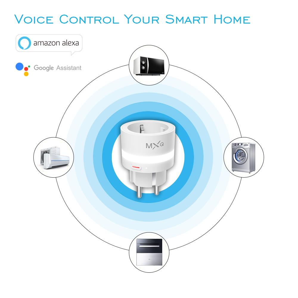 Bakeey SP10 10A LED Light Smart WiFi Socket Switch Real-time Status Feedback Function Work for Amazon Alexa Google Assistant