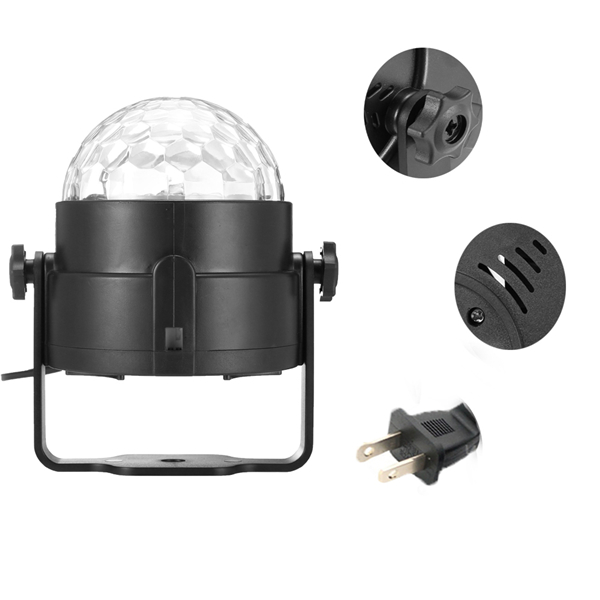SOLMORE RGBW Remote Control LED Stage Light Sound Activated Magic Ball Waterwave Lamp AC100-240V