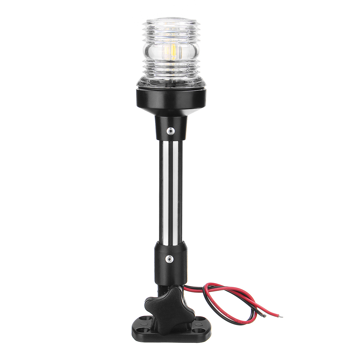 12V-24V Fold Down LED Navigation Lights 360 Degree Marine Boat Pontoon Stern Anchor Pole Lamp