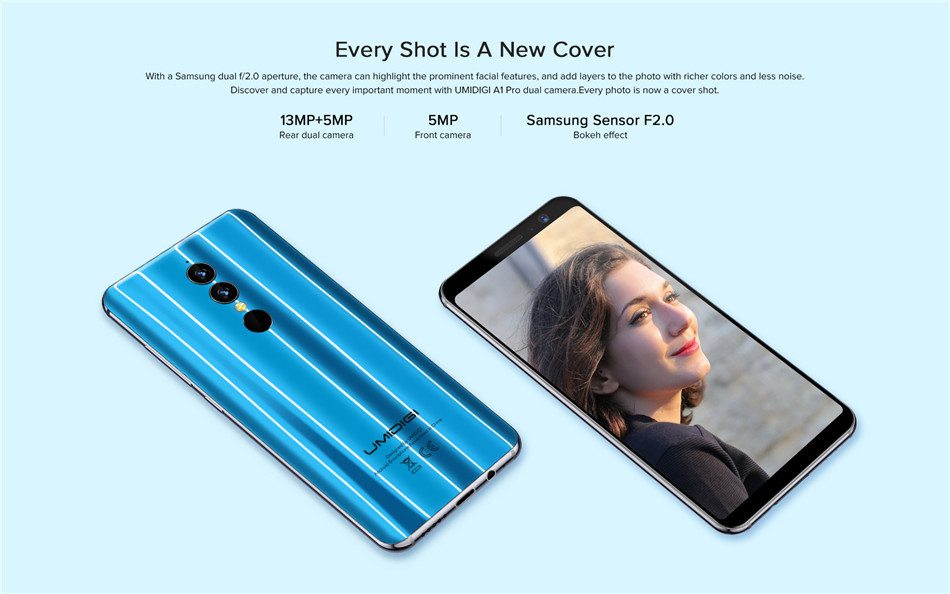 UMIDIGI A1 Pro 5.5 Inch 18:9 Full Screen Android 8.1 3GB RAM 16GB ROM MTK6739 1.5GHz 4G Smartphone