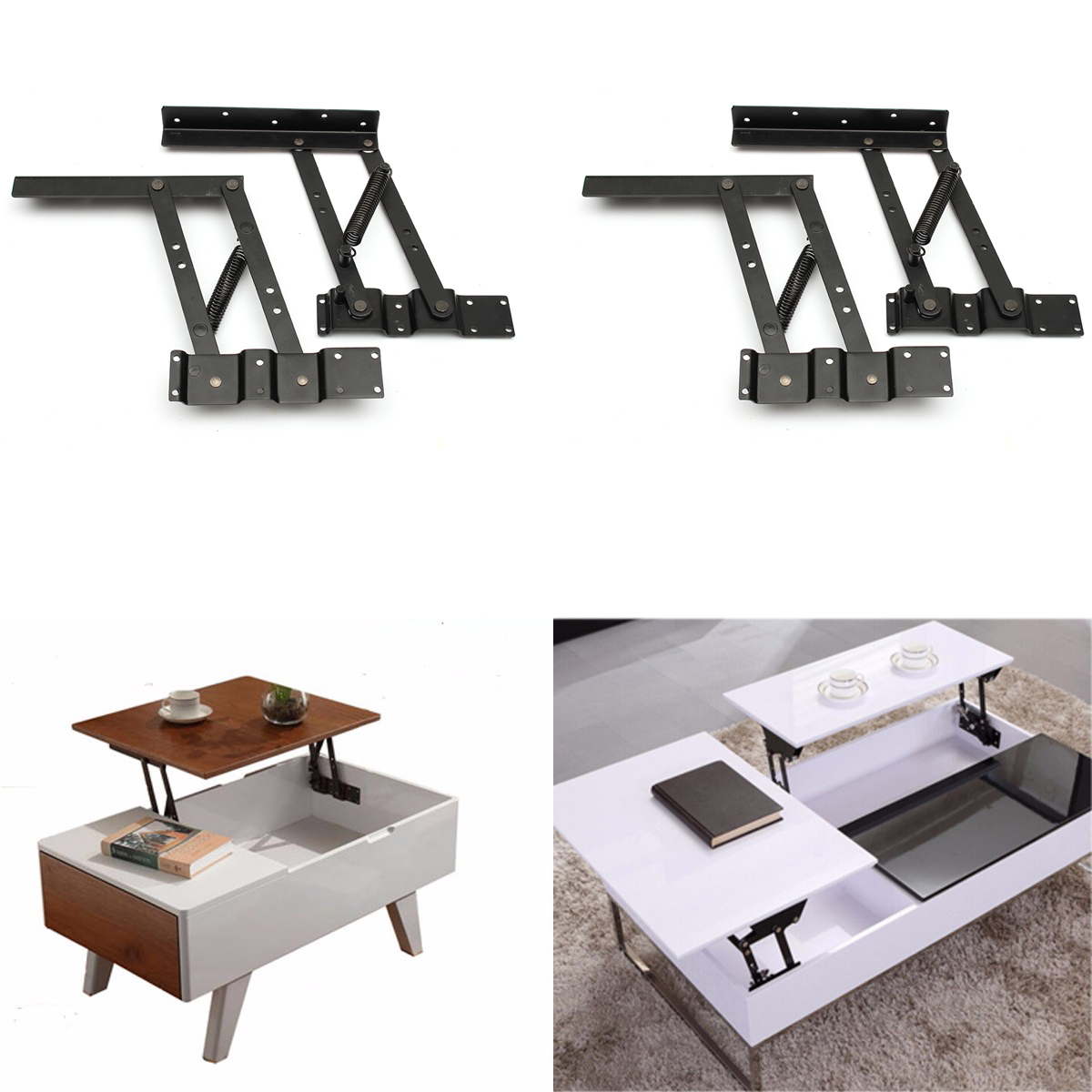 2Pcs Multi-functional Lift Up Coffee Table Mechanism Coffee Table Lift Frame