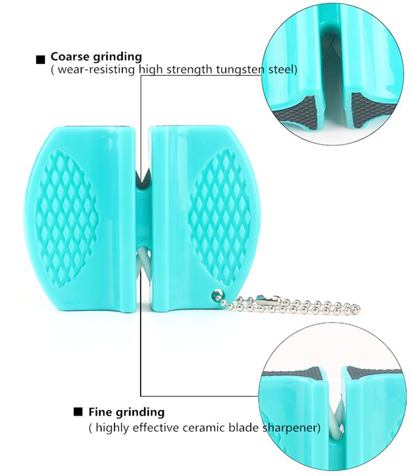 Portable Outdoor Mini Knife Sharpener Tools Grindstone Scissors for Knives Kitchen Accessories