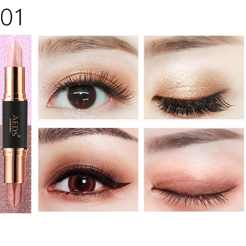 6 Colors Double Head Eye Shadow Stick Highlight