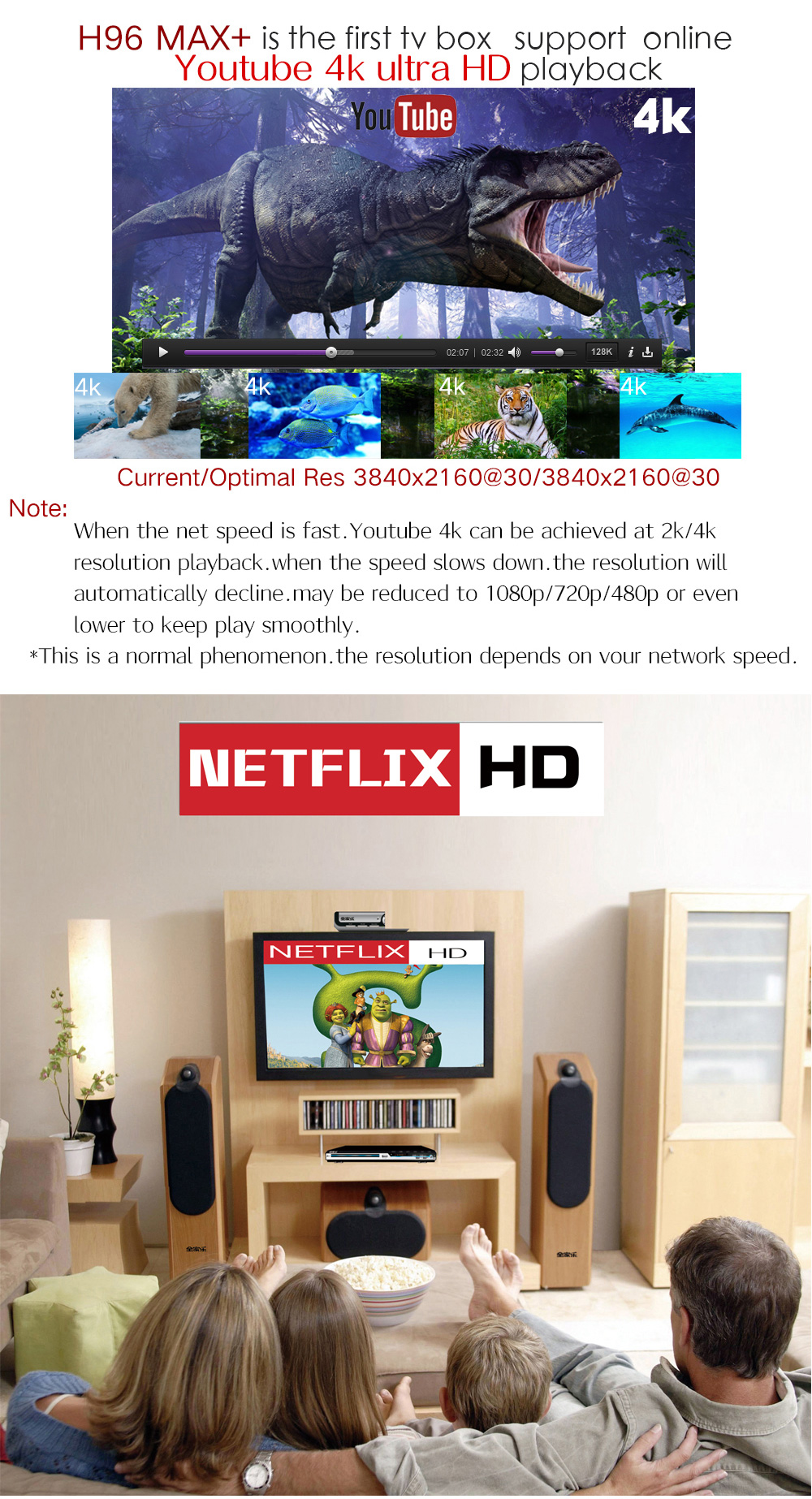 H96 Max Plus RK3328 4GB RAM 64GB ROM Android 8.1 USB3.0 5G WIFI TV Box Support HD Netflix 4K Youtube