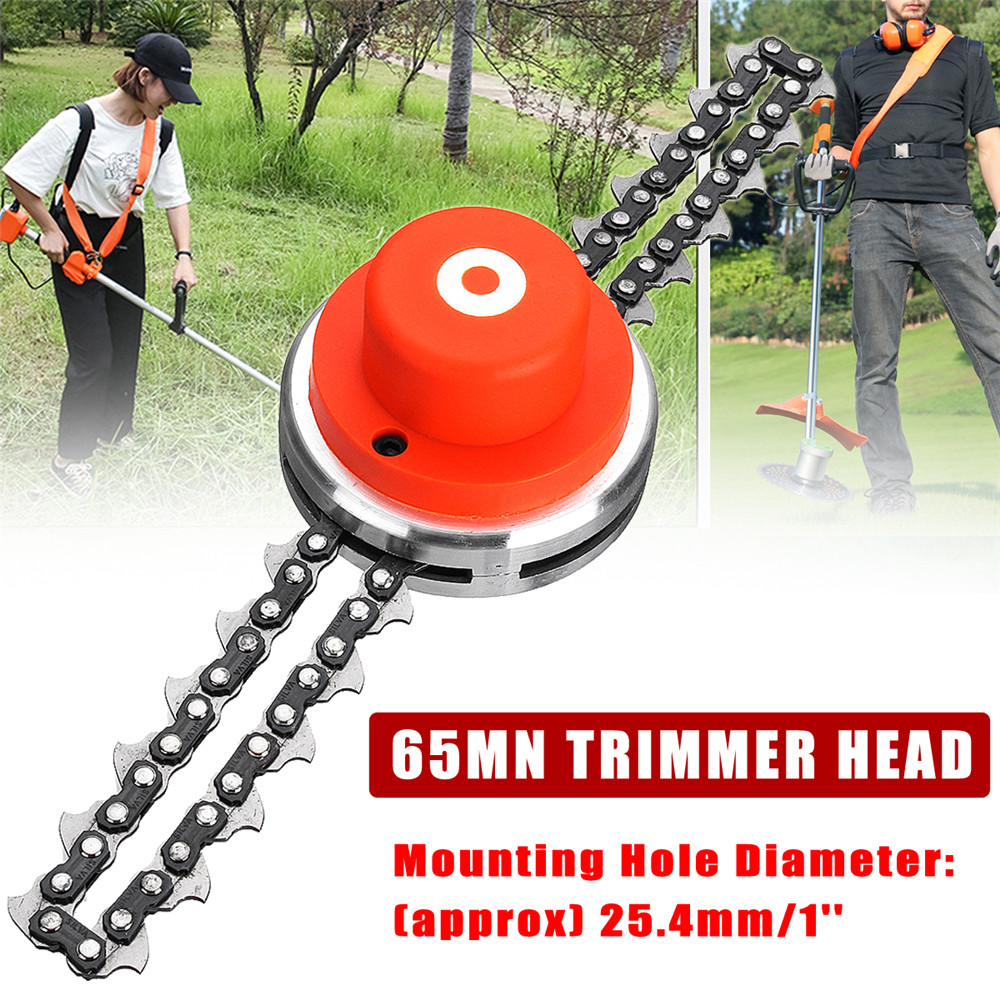 65Mn Trimmer Head Coil Chain Brush Cutter Garden Grass Trimmer For Lawnmower