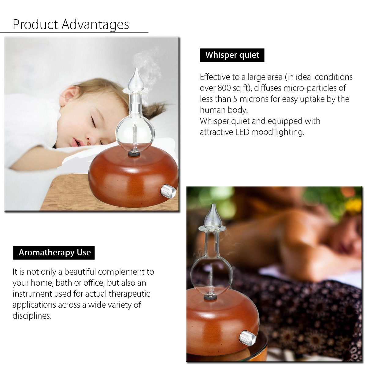 Color Changing Spa Aromatherapy Essential Oils Diffusers