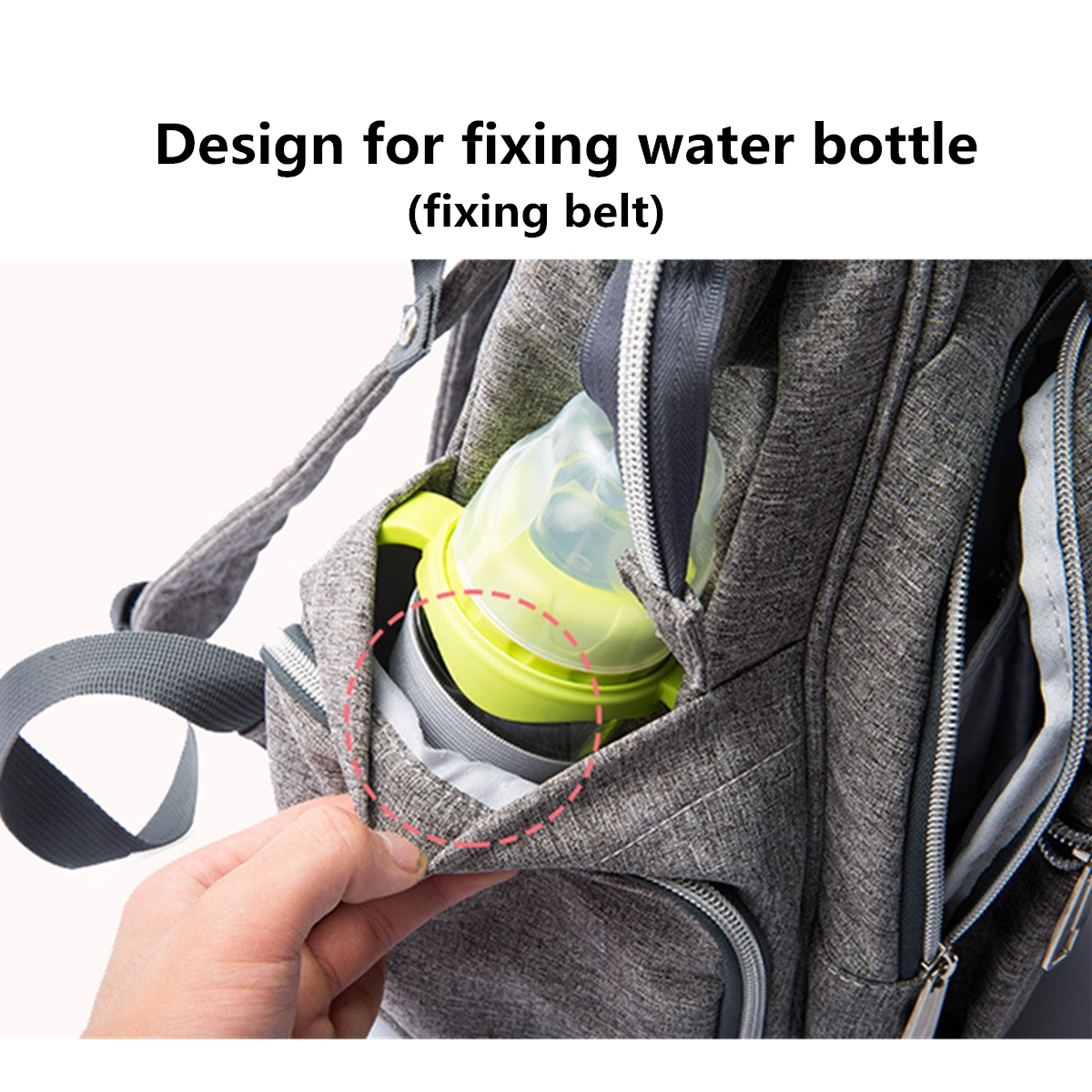 25L Outdoor Travel Mummy Baby Diaper Nappy Backpack Multifunctional Changing Bag + Water Bottle Bag