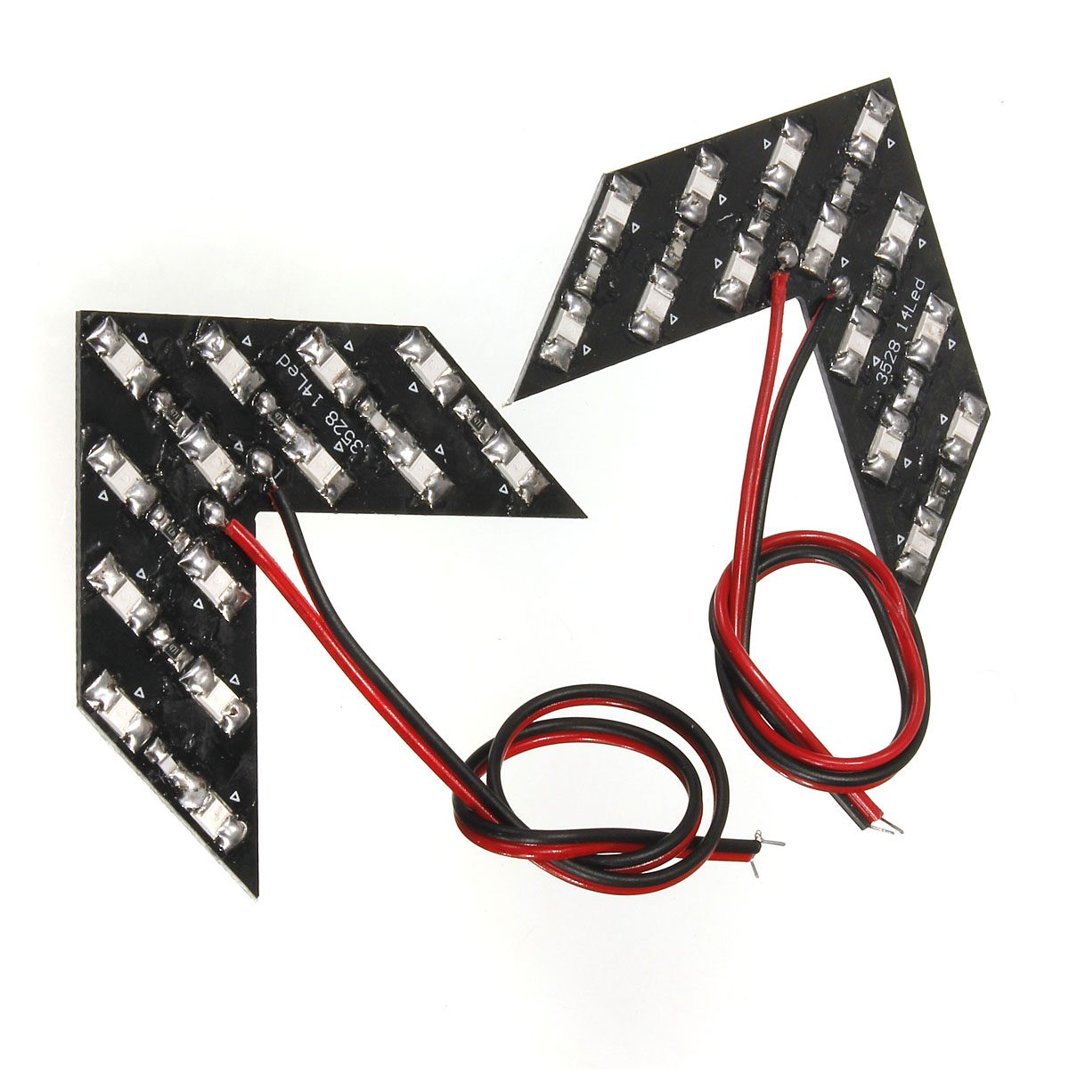 Pair DC12V 14SMD Arrow LED Panels Car Side Mirror Rear Turn Signal Indicator Lights