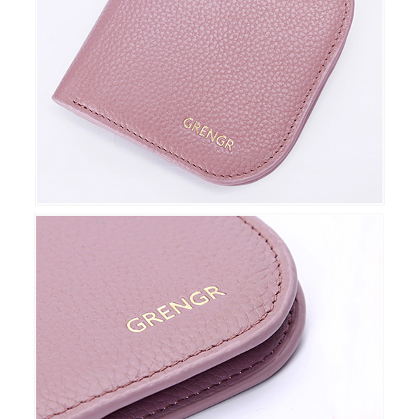 Women Cute Mini Wallet Genuine Leather Card Holder Purse with 6 Card Slots