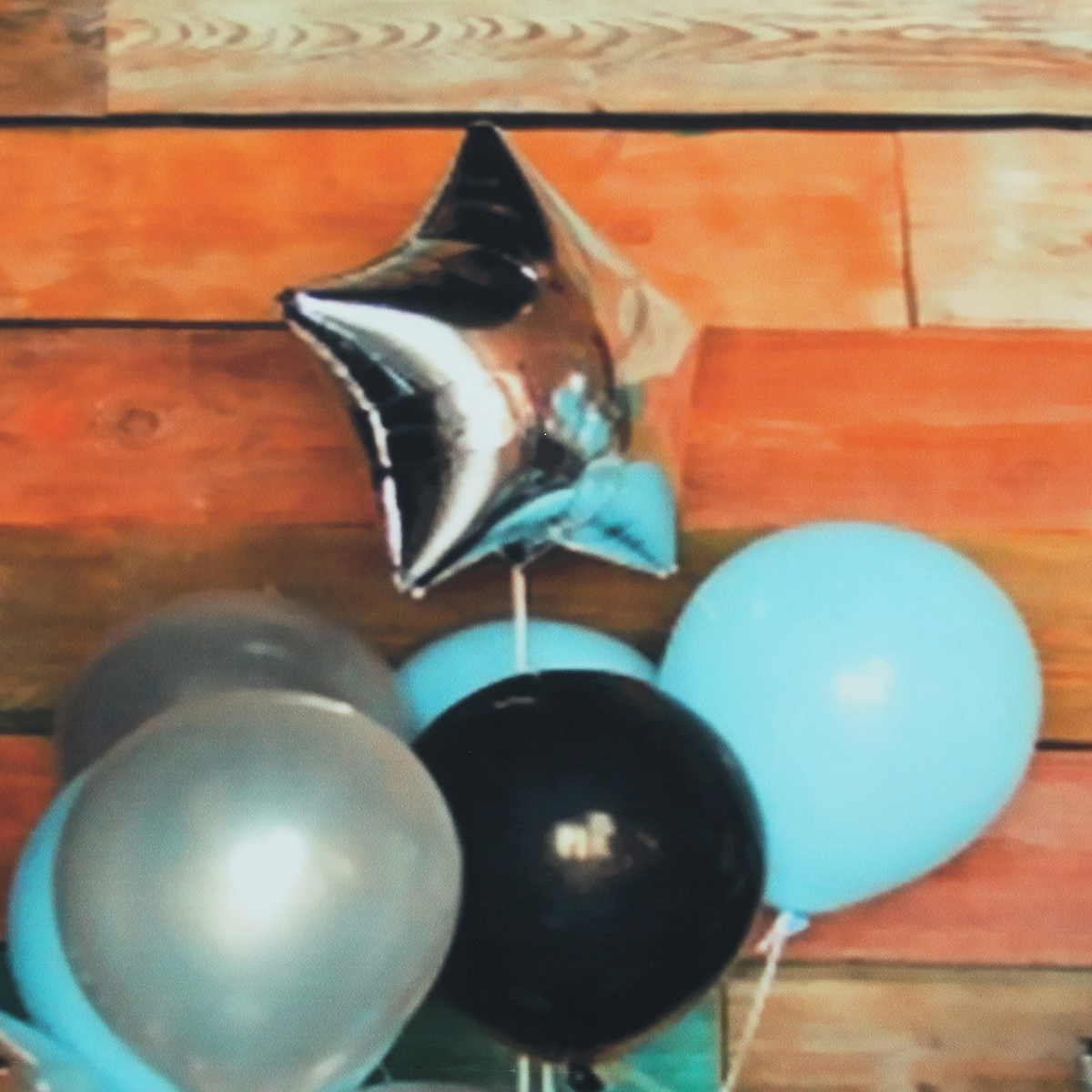 5x3ft 7x5ft Blue Balloon Colorful Wall Baby 1st Birthday Photography Backdrop Studio Prop Background