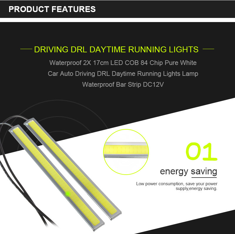 5W 12V LED COB Car Auto DRL Driving Daytime Running Lamp