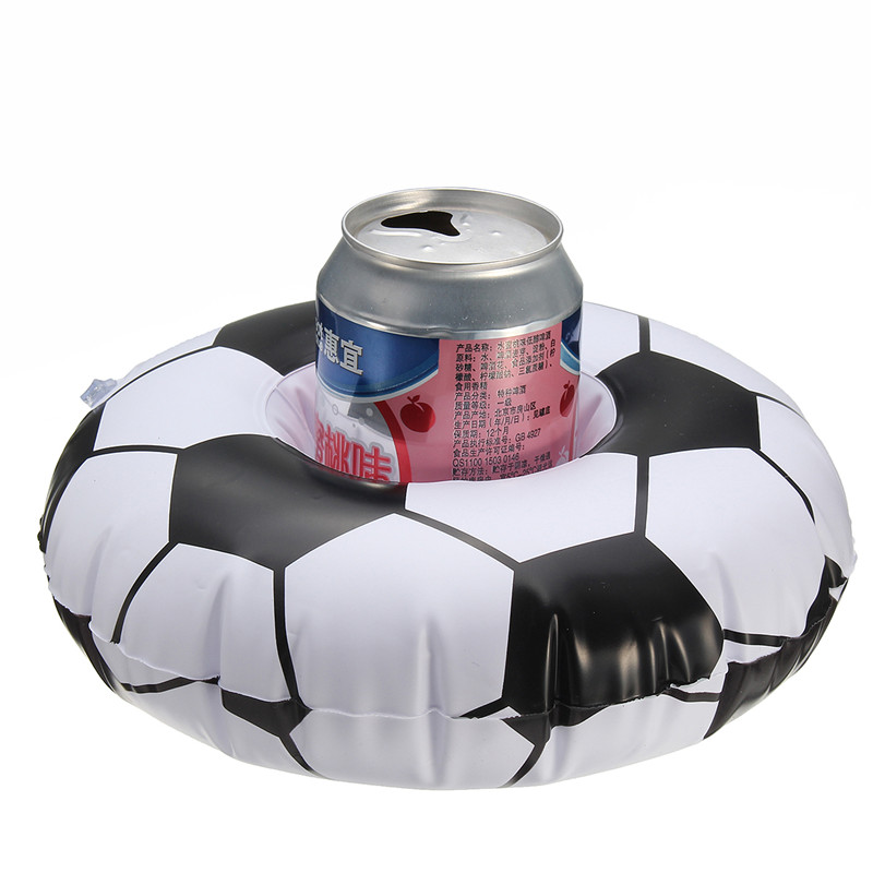 Floating Football Inflatable Drink Can Holder Swimming Pool Party Funny Toy
