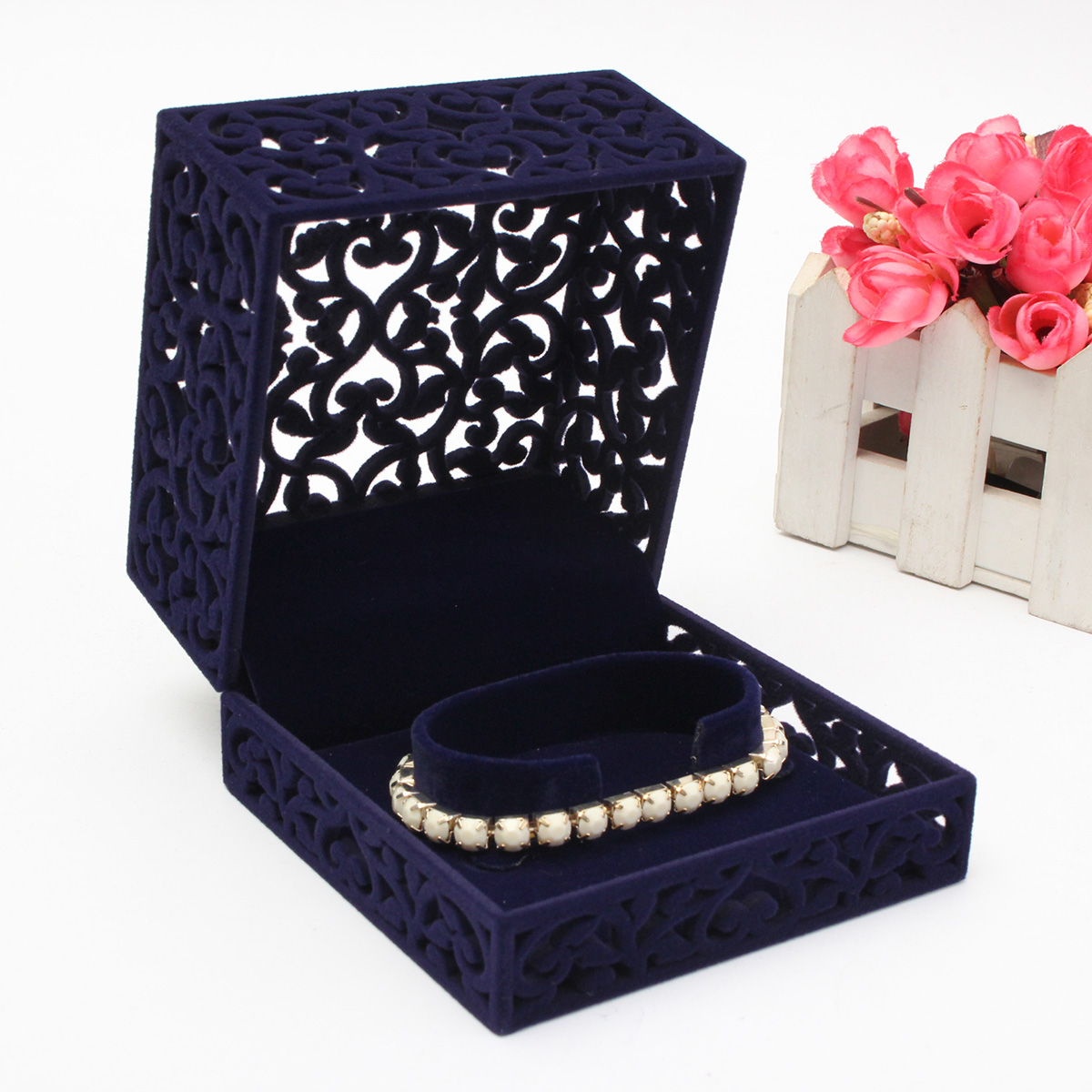 Velvet Necklace Ring Bracelet Pendant Charm Jewelry Gift Collect Box