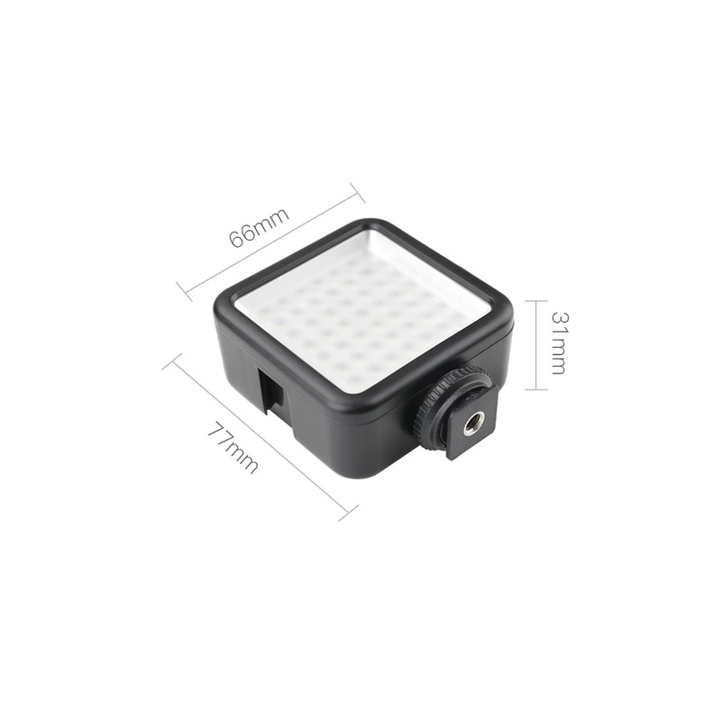 W49 Digital LED Video Light 6000K Small Lamp 1/4 Inch Mounting Hole Hot Shoe Connector Universal for DSLR DJI OSMO Pocket Action Camera Expansion Bracket - Photo: 5