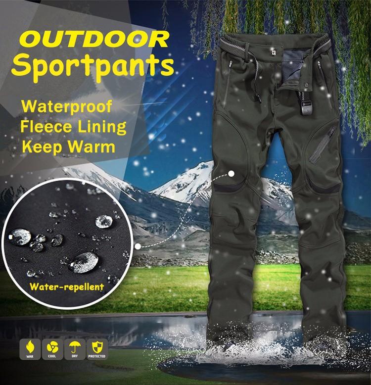 Men's Plus Size M-7XL Moutain Hardwear Pants Waterproof Windproof Polar Fleece Straight Leg Trousers