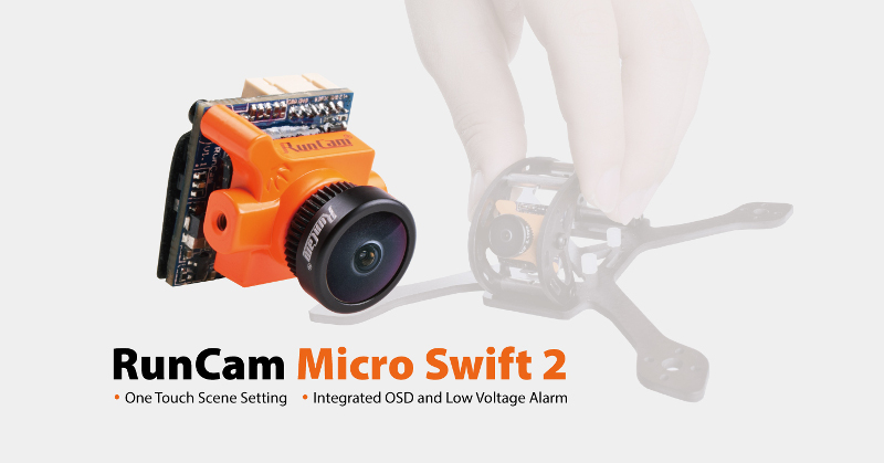 RunCam Micro Swift 2 600TVL 2.1/2.3mm FOV 160/145 Degree 1/3 OSD CCD FPV Camera for RC Drone
