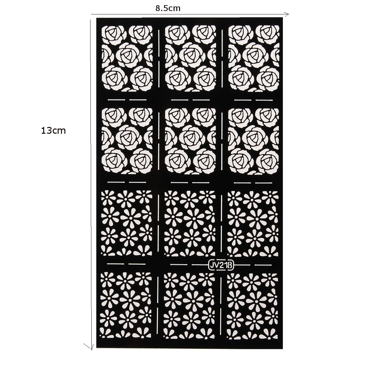 Nail Art Stencils Vinyl Hollow Stickers Decal Manicure Tips Stamp Template Decoration