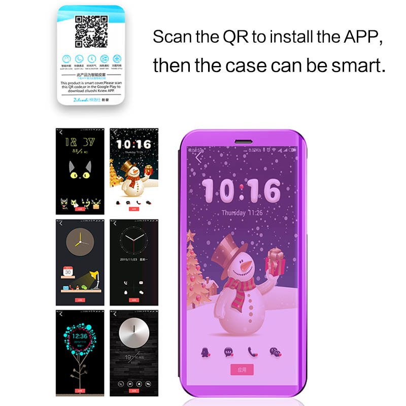 Bakeey Flip Smart Sleep Mirror Window View Bracket Protective Case For Xiaomi Mi9 SE