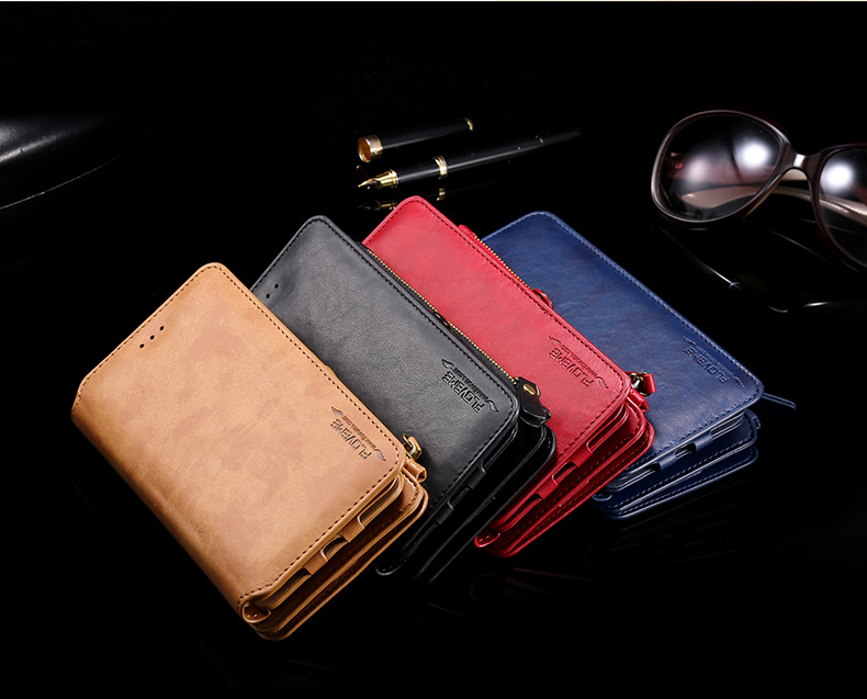Floveme Universal PU Separable Wallet Case Cover For Samsung Galaxy Note 5/S6 Edge Plus/Note 7
