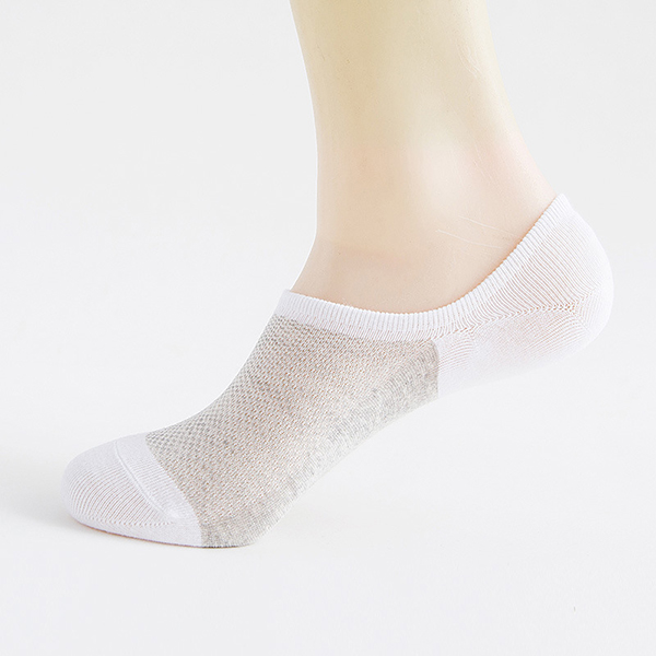 Men's Summer Breathable Boat Socks Silicone Anti-Slip Invisible Shallow Socks