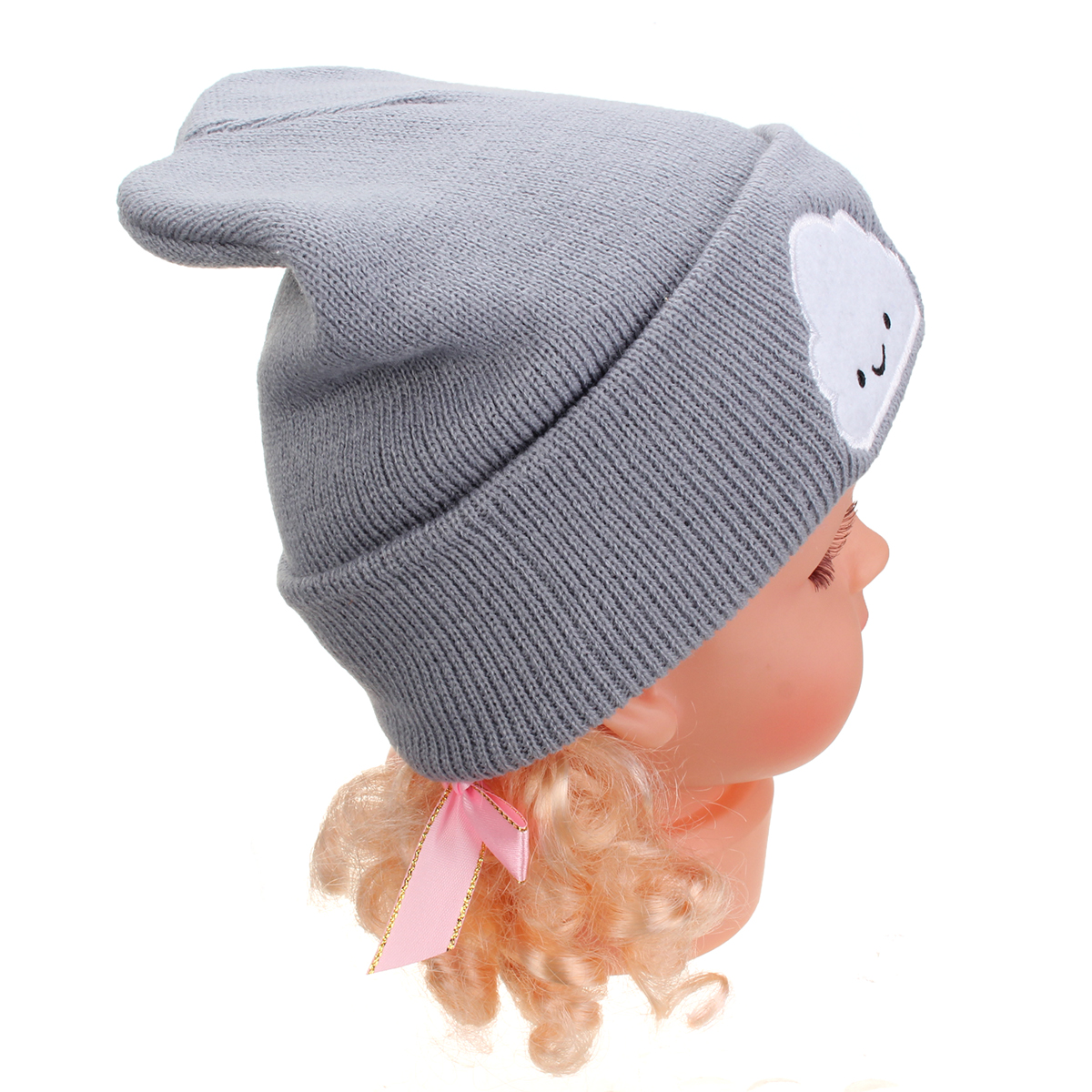 Baby Toddler Kids Boy Girl Cloud Beanie Cap Crochet Wool Knit Winter Warm Hat
