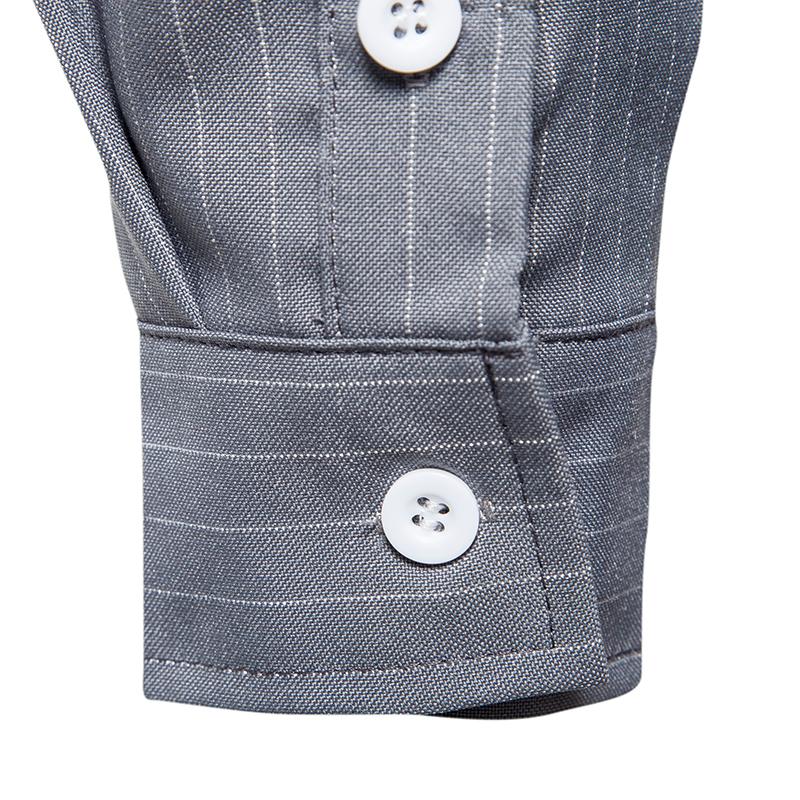 Vintage Stylish Fashion Stripe Printing Lapel Casual Shirts