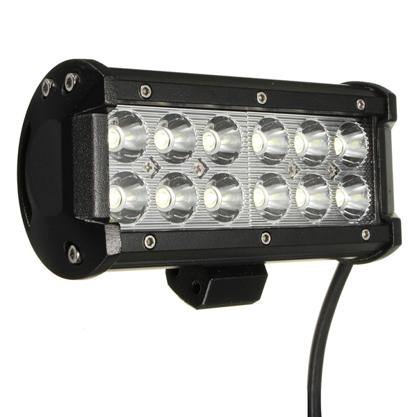 36W 12 LED Spot Bulb Beam Work Light for Off Road Truck Boat ATV SUV 12-24V