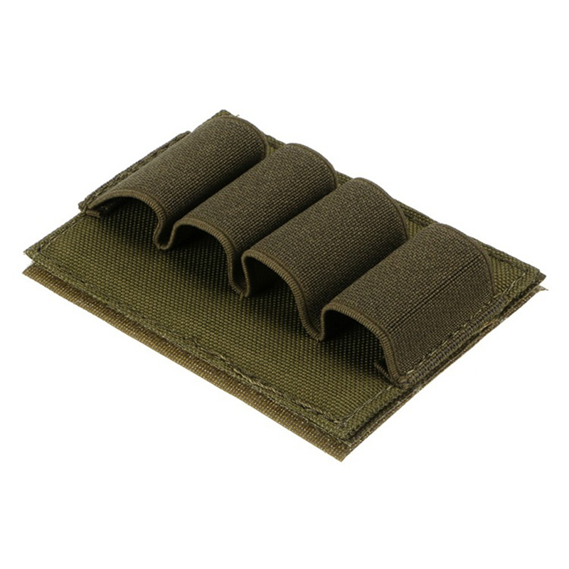 4 Rounds Shotgun Bullet Dump Pouch Holder Reload Strip Ammo Carrier Tactical Hunting Gun Accessories