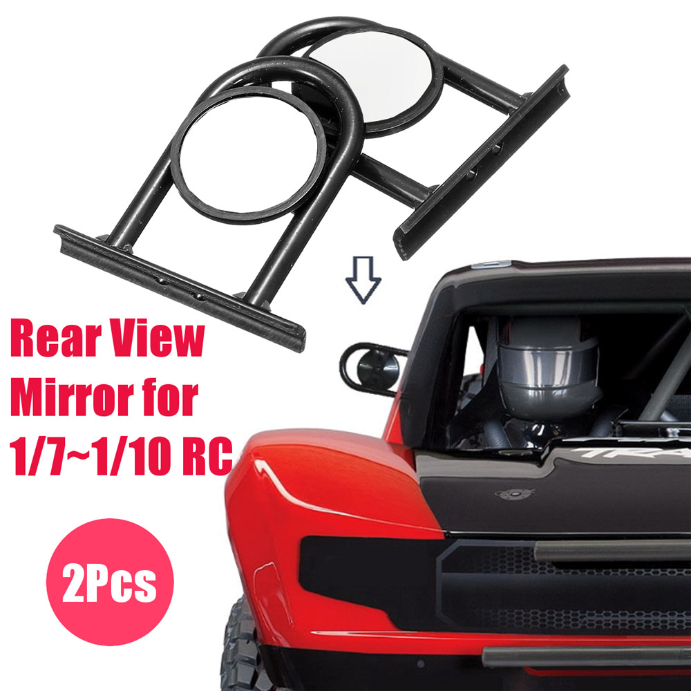 2PCS Rear View Mirror for 1/7 ~ 1/10 RC King Of The Hammers and Trophy Truck Car Parts