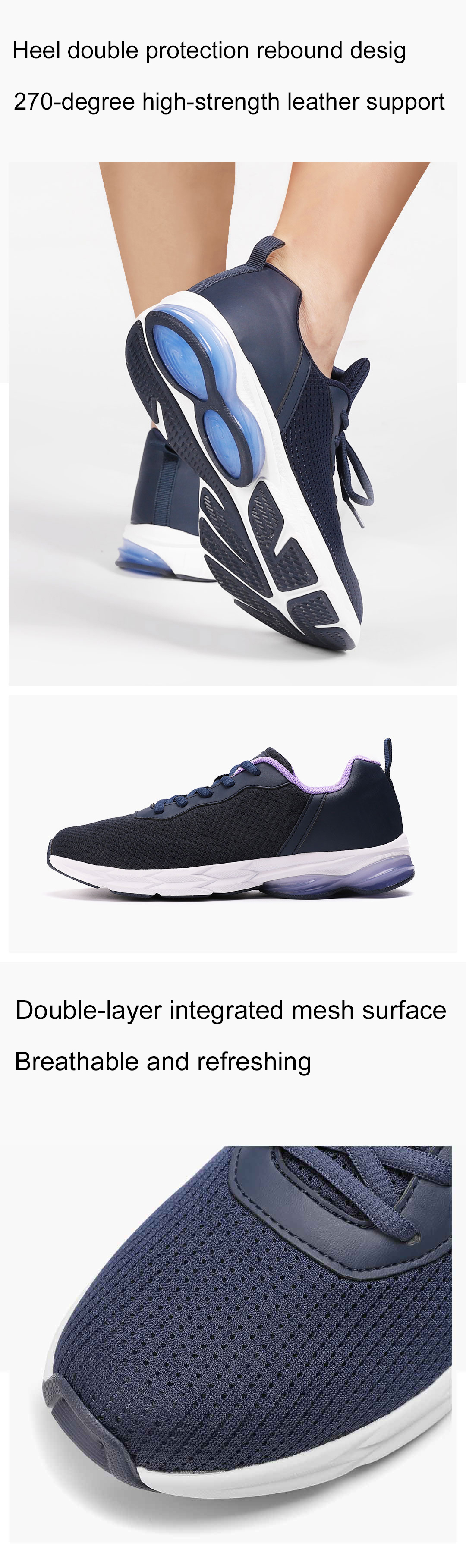 YUNCOO Shock Absorption Rubber Sports Running Shoes High Elastic Breathable Men Sneakers from xiaomi youpin