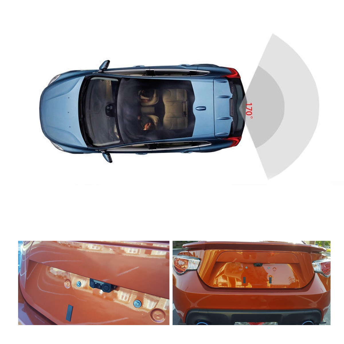 3 in 1 Car Parking Reversing Radar Sensors Rear View Backup + 170 Degree Car Camera CMOS