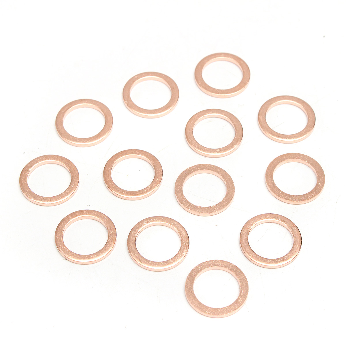 568pcs 30 Sizes Metric Washers Red Copper Flat Ring Gaskets Assortment Set Kit