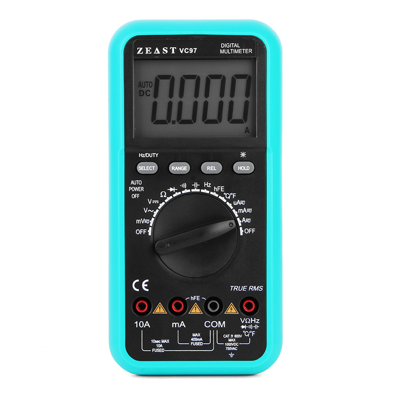ZEAST VC97 3 3/4 Digital Multimeter Voltmeter AC/DC Capacitor Frequency Tester Meter Electric Leads