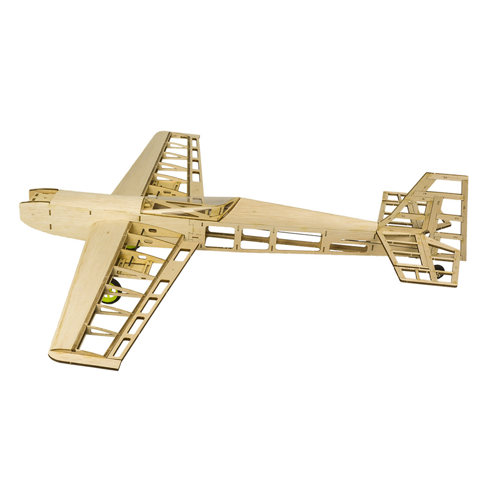 T10 800mm Wingspan Balsa Wood RC Airplane Kits Model Laser Cut Training Trainer