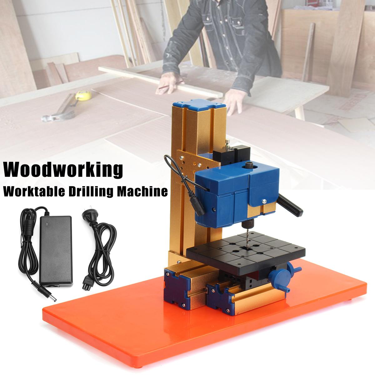 24W AC100-240V Mini Wood Lathe Wood Working Lathe Machine DIY Woodworking Tool for Hobby