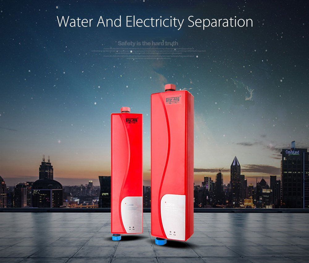 3000W Mini EU Elegant Instant Hot Water Heater Electric Indoor Tankless Water Heater for Bathroom Kitchen