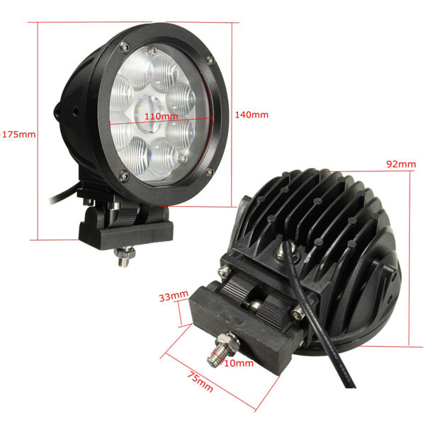 7 Inch 45W LED Working Light Flood Spot Beam for Off Road Jeep ATV SUV Boat