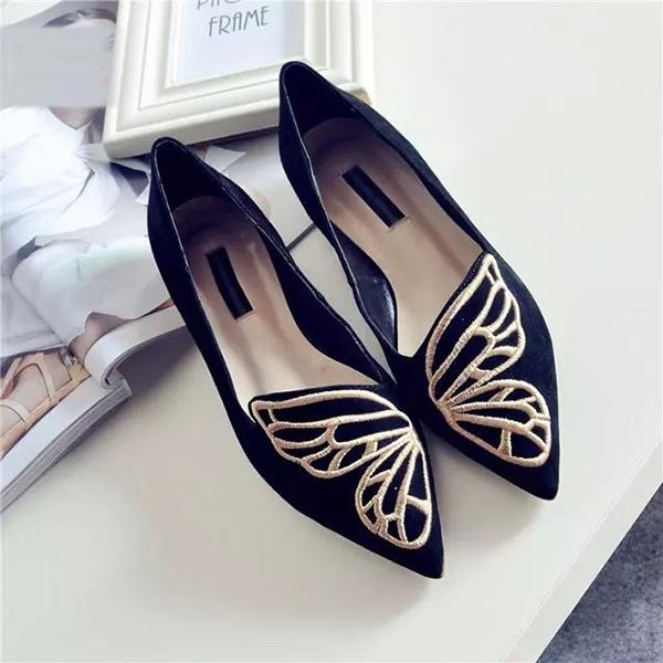 New Fashion Women Soft Comfortable Casual Ballet Slip On Flat Butterfly Loafers Flats Shoes