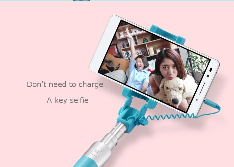Original HUAWEI Honor 18cm To 66cm 270°Rotatable Wire Selfie Stick For EMUI iOS Android