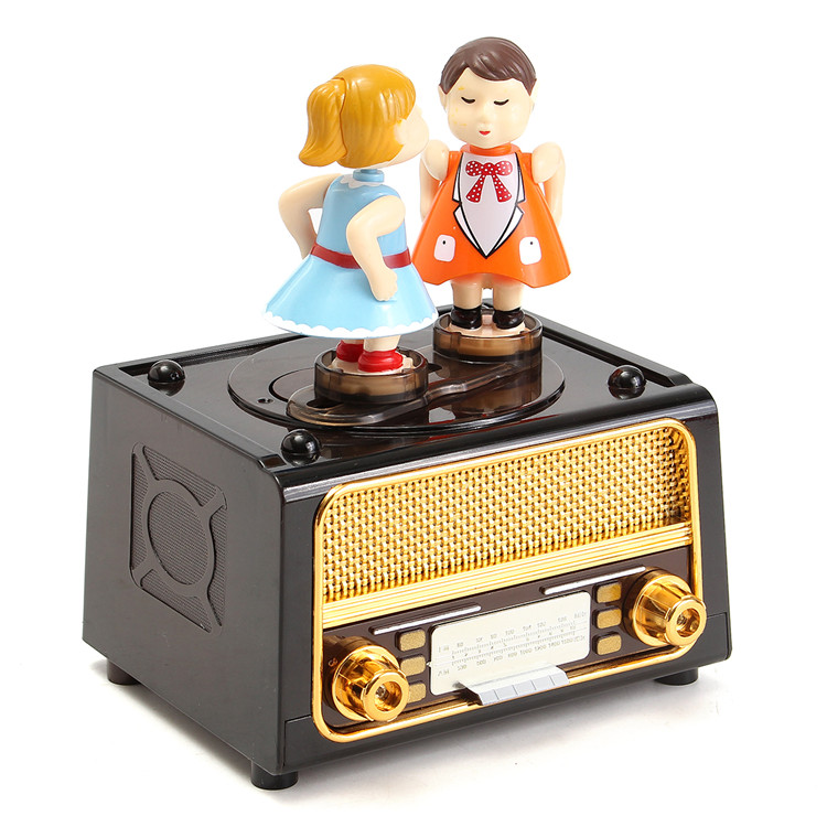 Plastic Classic Music Box Retro style Cute Kids for Kid