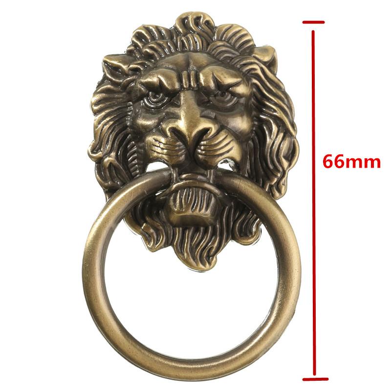 Lionhead Model Loop handle Zinc Alloy Door Wardrobes Handle
