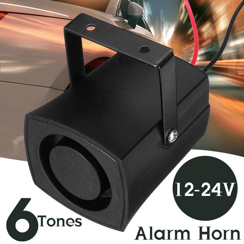 12-24V 120DB Car Police Fire Alarm Horn 6 Tones Warning Siren Beeper Buzzer